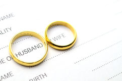 Ring cover husband word Stock Image