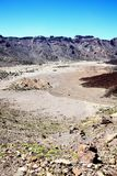 Ring crater of the volcano Pico de Teide Royalty Free Stock Images