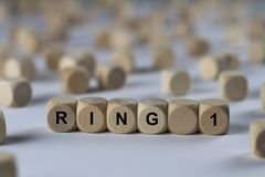 Ring 1 - cube with letters, sign with wooden cubes Royalty Free Stock Photo