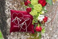 Ring cushion Royalty Free Stock Photography