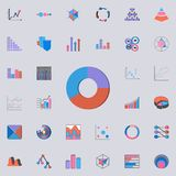 Ring 3D diagram icon. Charts & Diagramms icons universal set for web and mobile stock illustration