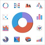 Ring 3D diagram icon. Detailed set of Charts & Diagramms icons. Premium quality graphic design sign. One of the collection icons f. Ring 3D diagram icon royalty free illustration