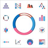 Ring 3D diagram icon. Detailed set of Charts & Diagramms icons. Premium quality graphic design sign. One of the collection icons f. Ring 3D diagram icon stock illustration