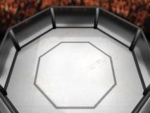Ring der Spitzenseiten-MMA Stockfotos