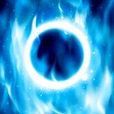 Ring des Feuers Vektor-brennender Kreis-Hintergrund Stockfotos