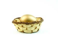 Ring des strahlenden Golds Stockbild