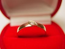 Ring With A Diamante 1. Ring with a small diamante royalty free stock image