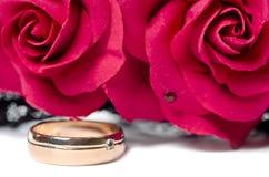 Ring with diamond Stock Photo