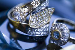 Ring & Diamond Royalty Free Stock Image