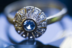 Ring & Diamond Royalty Free Stock Photo