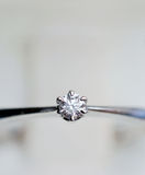 Ring with diamond close up Royalty Free Stock Photography