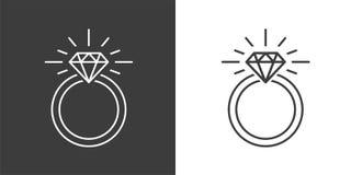 Ring Diamond Engagement Ring illustration stock