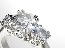 Ring with diamond. Fashion Jewelry background Royalty Free Stock Photos