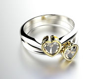 Ring with diamond. Fashion Jewelry background Stock Photos