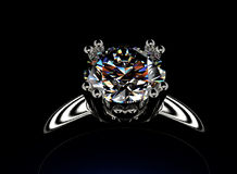 Ring with diamond. Fashion Jewelry background Stock Photography