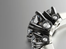 Ring with diamond. Fashion Jewelry background Royalty Free Stock Photo