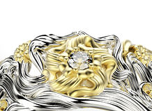 Ring with diamond. Fashion Jewelry background Royalty Free Stock Images