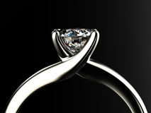 Ring with diamond Stock Images