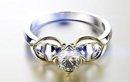 Ring with diamond Royalty Free Stock Photo