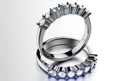 Ring with diamond. Stock Photography