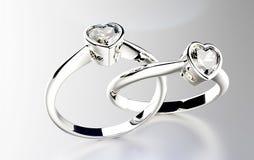 Ring with diamond Stock Photos