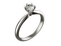 Ring with Diamond. jewelry background Stock Photo