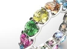 Ring with Diamond. Jewelry background. Valentine day Stock Photos