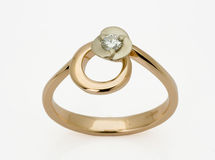Ring with the diamonds Royalty Free Stock Image