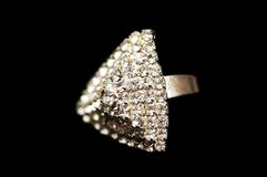 Ring with diamonds Royalty Free Stock Photo