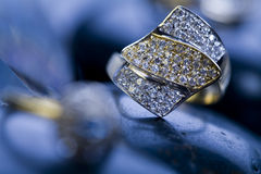 Ring with diamonds Stock Photo