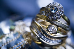Ring with diamonds Royalty Free Stock Photos