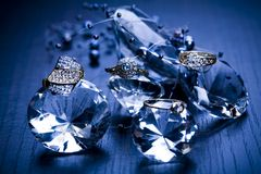 Ring -Diamonds background Stock Photos