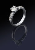 Ring with diamonds Stock Photos
