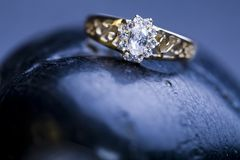 Ring -Diamonds - Gemstones Stock Photography