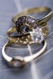 Ring -Diamonds - Gemstones Stock Photos