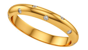 Ring with diamonds Stock Images
