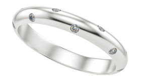 Ring with diamonds Royalty Free Stock Photos