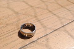 Ring with a doble cross Royalty Free Stock Photography