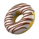 Ring donut in chocolate glaze Stock Images