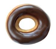 Ring Donut coperto di cioccolato immagini stock