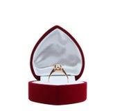 Ring in doos Stock Foto