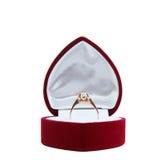 Ring in doos Stock Foto's
