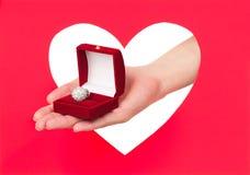 Ring in einem Kasten Lizenzfreie Stockfotografie