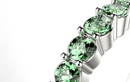 Ring with emerald. Stock Image
