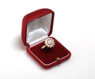 Ring en doos Royalty-vrije Stock Afbeelding