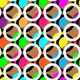 Ring en kleuren abstract patroon als achtergrond stock illustratie