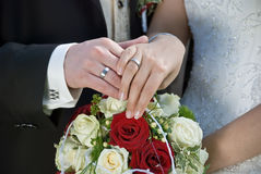 The ring exchange Royalty Free Stock Photo
