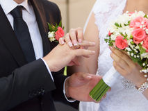 Ring Exchange at Ceremony Stock Photography