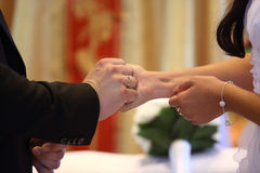Ring exchange Royalty Free Stock Photos