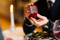 Ring for fiancee Stock Photos